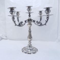Gorham Chantilly-Grand 5 Light Sterling Silver Candelabra