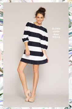 Gloria Crinkle Dress. SHOP www.whitneyeve.com