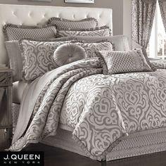 Babylon Scroll Comforter Bedding by J Queen New York