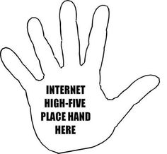 internet high five - virtually awesome