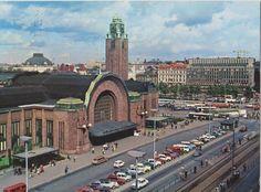 Helsinki postcard early '70s Helsinki, Vintage Postcards, San Francisco Ferry, Finland, Paths, Street, World, City, Building