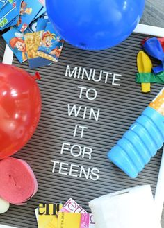 Minute to win it games for teens-These fun minute to win it games are great for teens, preteens, kids or even adults. They are easy to pull off and are creative and fun! games Super Fun Minute to Win it Games for Teens Easy Party Games, Birthday Party Games, Games For Parties, Outside Party Games, One Minute Party Games, Carnival Birthday, 13th Birthday, Girl Birthday, Birthday Cake