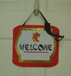 Items similar to Ninja Theme Door Sign, Chinese Theme Door Sign, Oriental Theme Door Sign, Welcome Door Sign on Etsy Chinese Theme, Welcome Door Signs, Feng Shui, Event Design, Ninja, Party Supplies, Oriental, Reusable Tote Bags, Doors