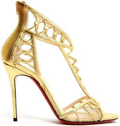 Get the must-have sandals of this season! These Christian Louboutin Gold Martha Metallic Leather Cutout Heels Pumps Sandals Size EU (Approx. Stilettos, Pumps Heels, Nike Outfits, Christian Louboutin Shoes Sale, Red High Heel Shoes, Red Bottom Shoes, Zapatos Shoes, Only Shoes, Beautiful Shoes