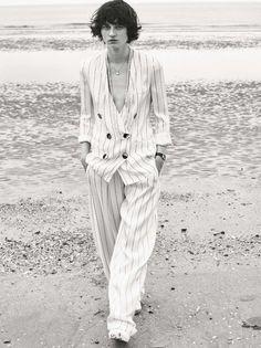 Thirties Twist: Ellen De Weer by Van Mossevelde+N for Elle France May 12th, 2017 #stripes #navy