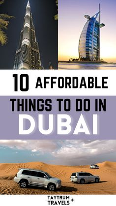 List of 10 budget friendly things to check out in Dubai, United Arab Emirates. Do everything on this list for less than $100! #budgettravel #travelUAE Budget Travel, Travel Tips, Famous Buildings, Dubai Mall, United Arab Emirates, Beach Hotels, Tour Guide, Uae, Middle East