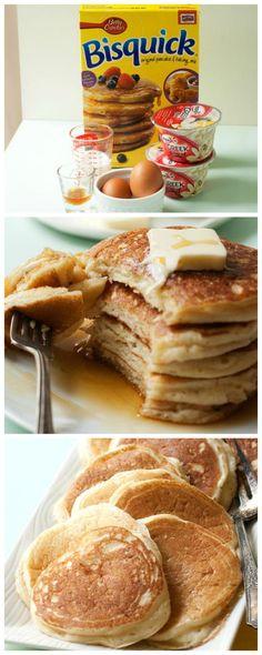 How to make Vanilla Greek Yogurt Protein Pancakes -- they're so fluffy!.