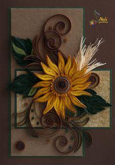 Quilled sunflower by>neli