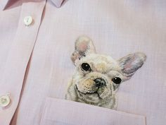New Custom Embroidered Pets in Pockets by Hiroko Kubota
