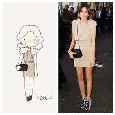 Alexa Chung. Love her style. #catplusmouse #customportrait #fashionillustration #illustration #alexachung #madewithpaper #doodle