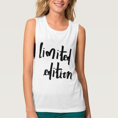 limited edition flowy muscle tank top #tanktops