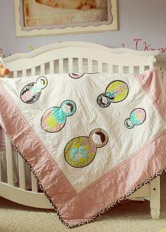 Baby Crib Quilt Matryoshka Dolls