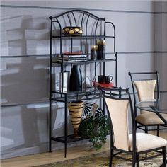Hillsdale Furniture 4592-850 MixnMatch Bakers Baker's Rack, Black by Hillsdale Furniture. $161.41. Color Black. Black. Assembled dimensions 72.25 in. H x 36.75 in. W x 15.75 in. D. Style Traditional. Finish:Black The Mix-n-Match Baker's Rack coordinates wonderfully with both the Ceirra and Midtown dining collections.. Save 25%!