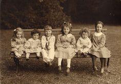 Six Little Children, ca. 1910.