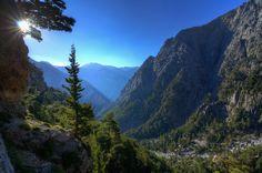 Samaria Gorge Mountain view