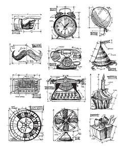 Tim Holtz Blueprint Stamp Sets!