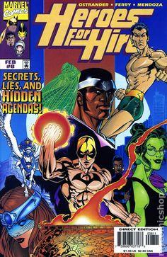Heroes for Hire # 8 Marvel Comics Vol. Indrajal Comics, Marvel Dc Comics, Comic Book Covers, Comic Books, Phantom Comics, Luke Cage Marvel, Front Cover Designs, Heroes For Hire, Marvel Series