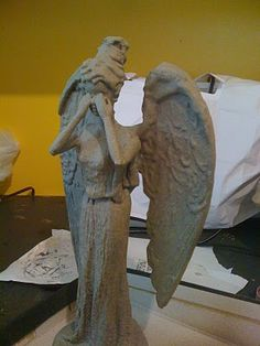 making a barbie into a weeping angel!