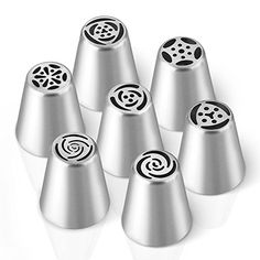 Cake Flower Tip, Homitt 7 PCS Pastry Tools Decorating Tips, Stainless Steel Icing Piping Nozzles,for Making Cakes Puffs and Pastries > Quickly view this special product, click the image : Baking tools Piping Icing, Cake Icing, How To Make Cake, Food To Make, Cake Nozzles, Desserts With Biscuits, Baking Desserts, Russian Piping Tips, Swiss Buttercream