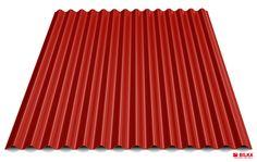Culoare tabla cutată t18 sinus - Roșu aprins