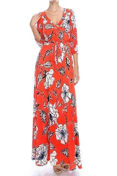 """""""Creme De La Creme"""" Floral Wrap Maxi Dress [More Colors]"""