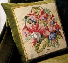 Pillow with fuchsia
