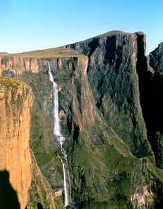Tugela Falls is the second tallest waterfall in the world ... located in the Drakensberg (Dragon's Mountains) in KwaZulu-Natal Province, Republic of South Africa ... Its height is (3,110 feet).