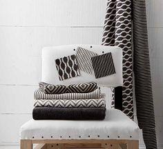 Nobilis black and white fabrics
