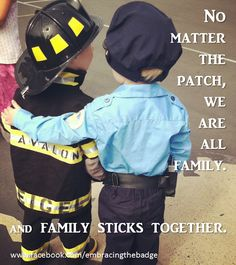 No matter the patch, we are all family. And family sticks together.
