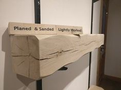 Oak Fireplace Beam / Floating Mantle Piece Surround Shelf. Free brackets!