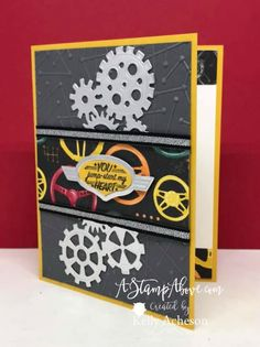 Making The Right Choice: Choosing An Online Education Institution Online School Programs, Scrapbooking, Stampin Up Cards, Men's Cards, Masculine Cards, My Stamp, Anniversary Cards, Kids Learning, Gears