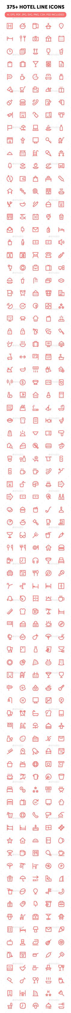 375+ Hotel Line Icons. Download here: http://graphicriver.net/item/375-hotel-line-icons/16565759?ref=ksioks