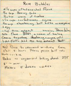 Yesterdish. This is a fun website with old recipes. Some look like my grandmother's handwriting. That memory makes me smile!