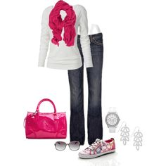 A fashion look from May 2012 featuring long sleeve tops, stretchy jeans and coach shoes. Browse and shop related looks. Fall Outfits, Casual Outfits, Cute Outfits, Fashion Outfits, Fashion And Beauty Tips, Passion For Fashion, Coach Shoes, What To Wear, Style Me