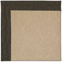 Capel Zoe Machine Tufted Magma/Brown Area Rug Rug Size: Square 10'