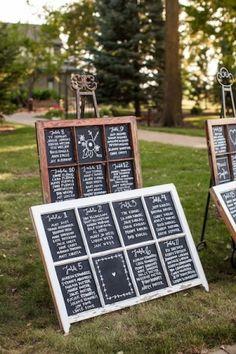 chalkboard wedding seating chart by Peachy Peacherson