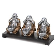 No Evil Buddha See Hear Speak Candleholder SetPerfect gift >>> Find out more about the great product at the image link.Note:It is affiliate link to Amazon.