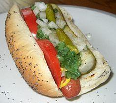 True Chicago hotdog -- served at Wrigley Field!