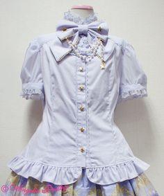 Crystal Dream Blouse by Angelic Pretty Quirky Fashion, Kawaii Fashion, Lolita Fashion, Cute Fashion, Fashion Outfits, Harajuku, Shops, Gothic Lolita, Lolita Style