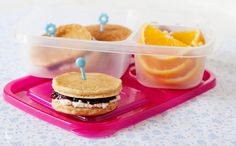 Pancake sandwich for school lunches!