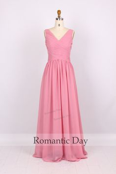 Best Selling VNeck lace up Prom dress/formal by RomanticDay