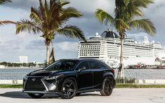 Download wallpapers Lexus RX350, 2017, luxury black SUV, black RX, Japanese cars, Lexus