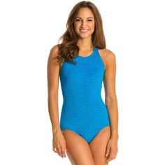 f58410a92e Penbrooke Krinkle Mastectomy High Neck Chlorine Resistant One Piece...  ($30) ❤