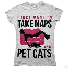 'Naps and Cats' Women's Tee - Shirts For Animal Lovers – Animal Hearted Apparel