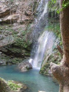 Kythira, Greece - Mylopotamos Village  waterfall