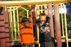 Fresh Air friends enjoy a summer day at the playground in Ontario. #summer #playground