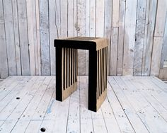 These simple stools are designed to be made from reclaimed pallet wood. Can also be used as a bed side table | East London Furniture