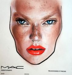 MAC face chart by Amalia Bot Mac Face Charts, Makeup Forever, Mac Cosmetics, Hair Beauty, Make Up, Photo And Video, Instagram Posts, Weather, Warm