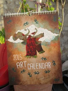 i illustrated calendar for 2015. Art calendar by Minecakmakk #etsy #calendar #art #illustration #artwork #minecakmak