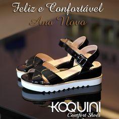 Conforto de #anabela e estilo #flatform super atual e combinando com qualquer look #koquini #comfortshoes #euquero
